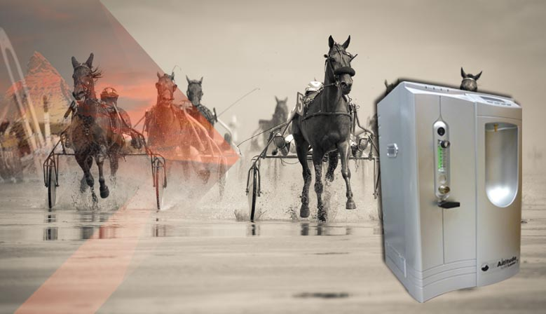 Imagen que acompaña al artículo sobre el entrenamiento en altitud simulada como mejora del rendimiento en caballos de carrera