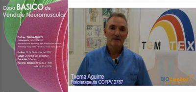 Curso Básico de Vendaje Neuromuscular de la mano de Txema Aguirre