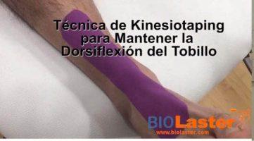 Dorsiflexión plantar con corrección mecánica