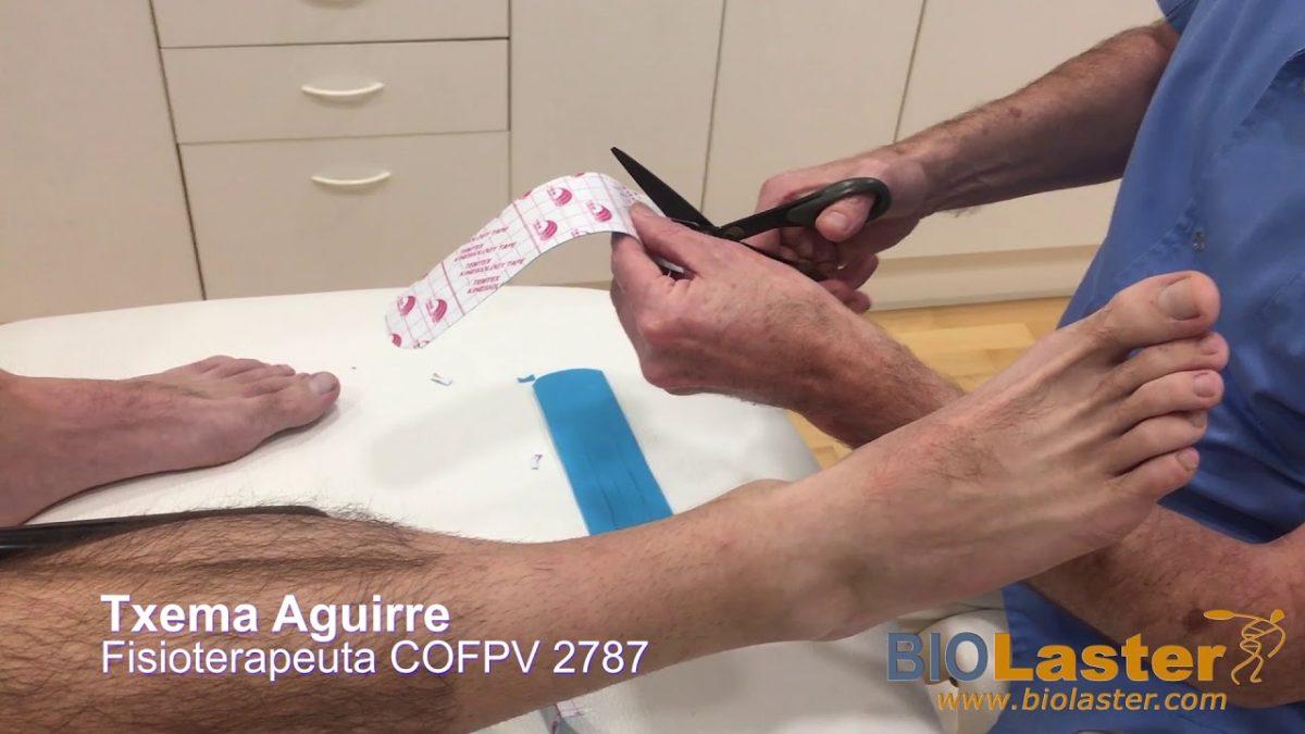 Vendaje Neuromuscular con técnica linfática para tobillo