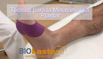 Metatarsalgia con Vendaje Neuromuscular