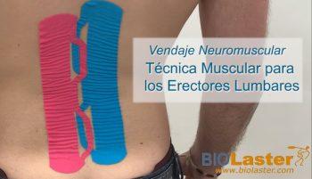 Técnica muscular para erectores lumbares