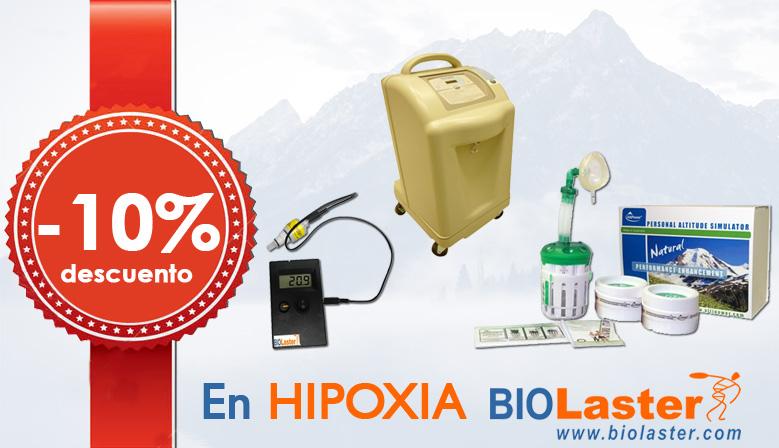 10% de descuento en los productos de Hipoxia