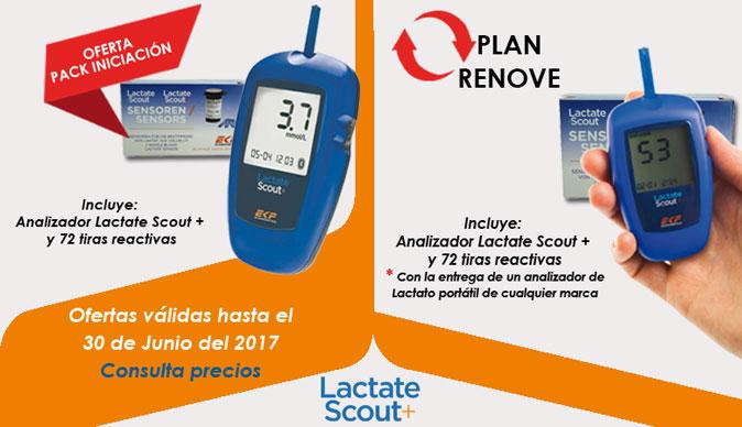Oferta Pack Lactate Scout + y 72 tiras reactivas