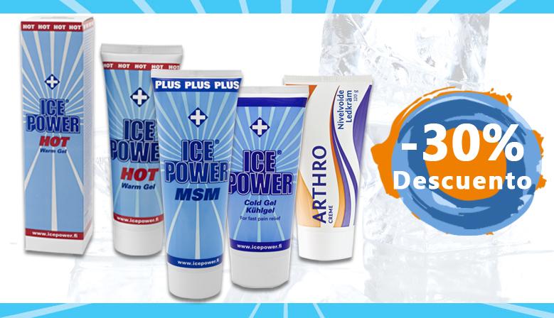 ¡Las Cremas de Ice Power al 30% de descuento!