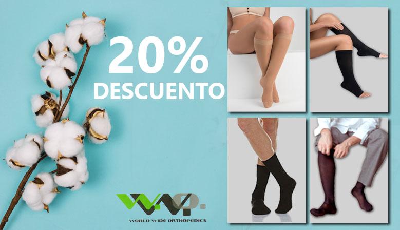 Las prendas de compresión médica y para el cuidado del pie al 20% de descuento