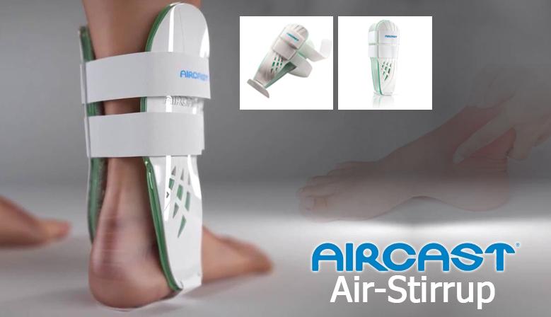 Firme estabilización del tobillo con la Férula Air Stirrup II