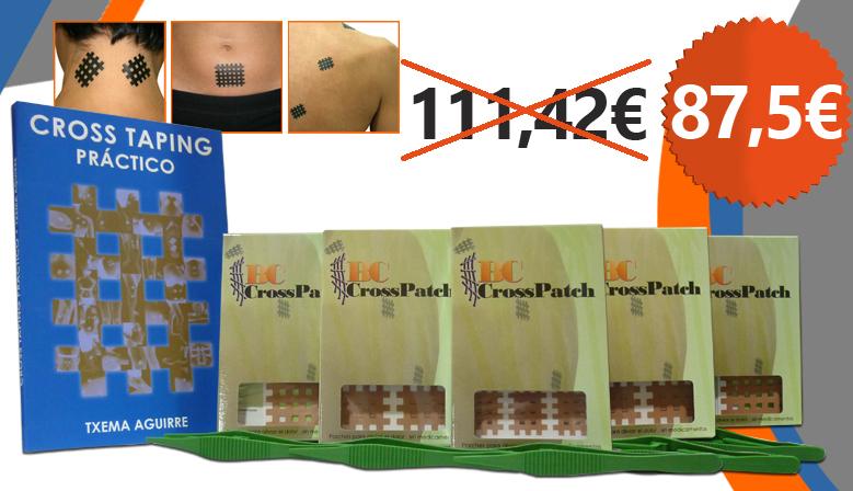 El libro de Cross Taping Práctico gratis por la compra de parches BC Cross Patch