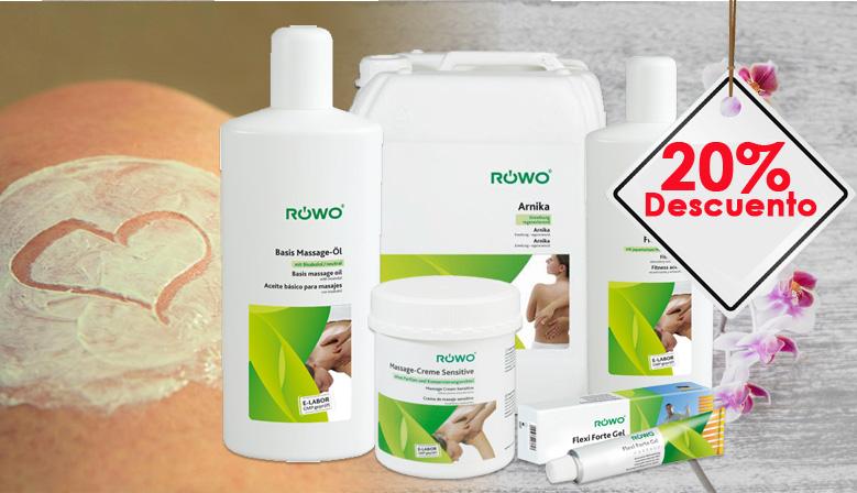 20% de descuento en todos los productos Rowo
