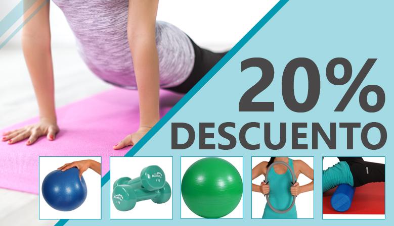 Productos para la realización de ejercicios de Pilates al 20% de Descuento