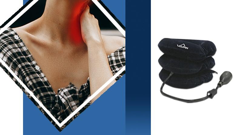 Alivio para el cuello con el Dispositivo de Tracción Cervical