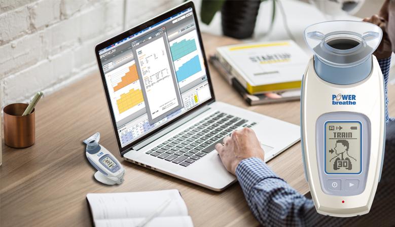 POWERbreathe KH2 y Software Breathelink:  visualización de gráficas