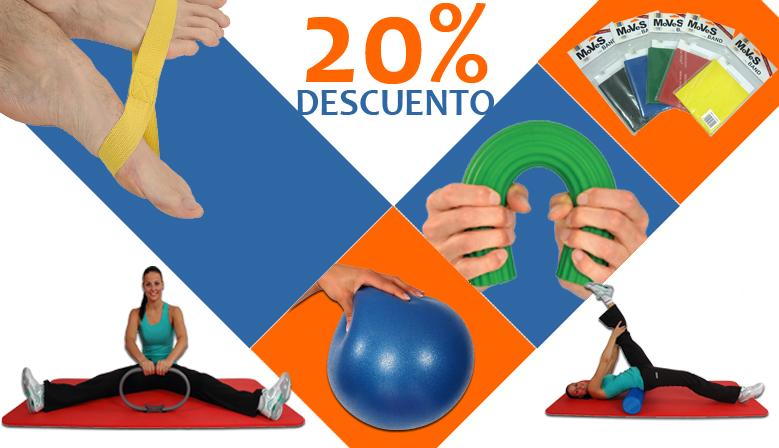 ¡Oferta del mes de agosto! Todos los productos de MVS Fitness y Rehabilitación al 20% de descuento.