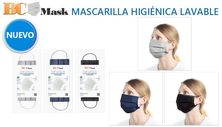 Nueva mascarilla reutilizable de algodón BC Mask