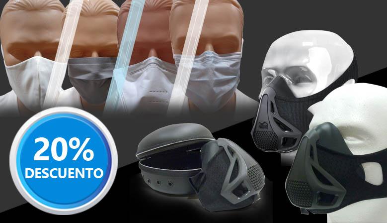 ¡Consigue tus Mascarillas higiénicas, de protección o de resistencia ventilatoria a un precio irresistible!