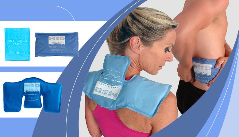 Aplicación de crioterapia localizada con las bolsas de frío/calor