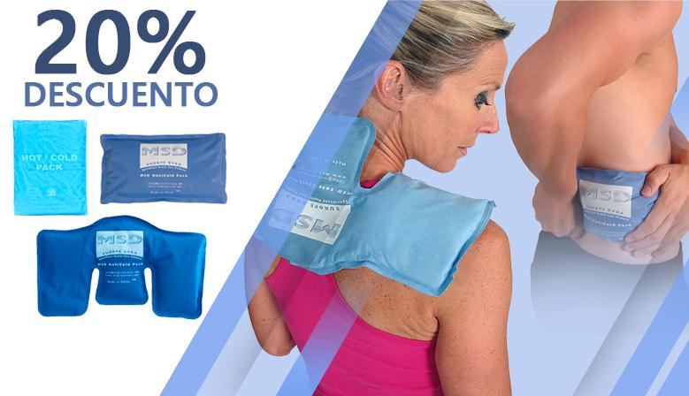 ¡Efecto frío o calor localizado con las bolsas calentadoras o refrigerantes!